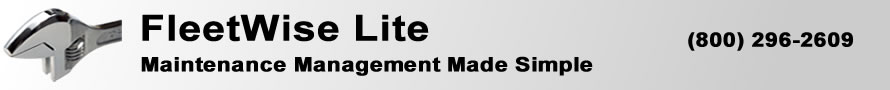 The graphic is the FleetWise VB Fleet Management Software page banner. FleetWise VB is Fleet Maintenance Made Simple.